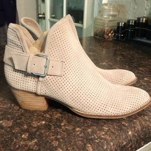 Dolce Vita taupe perforated booties 8